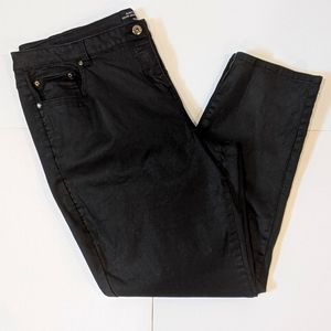 Penningtons black coated jeans sz 20